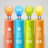 Idea of bulbs in the chart Stock Photo