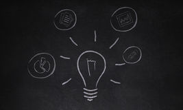 Idea business concept. Icons  Business Concepts  Creativity background Stock Photography