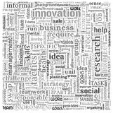 Idea and business concept in word tag cloud Stock Image