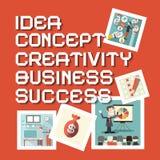 Idea Business Creativity Concept Success Titles Stock Photo