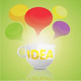 Idea Business Cup Cartoon Royalty Free Stock Image