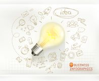 Idea, business infographics vector Royalty Free Stock Images