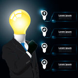 Idea Business Man Infographic Royalty Free Stock Images