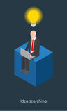 Idea businessman concept design 3d isometric  illustration Stock Photos