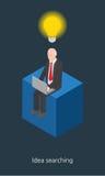 Idea businessman concept design 3d isometric  illustration.  Stock Photos