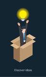 Idea businessman concept design 3d isometric  illustration Royalty Free Stock Images