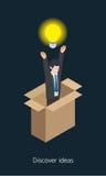 Idea businessman concept design 3d isometric  illustration.  Royalty Free Stock Images