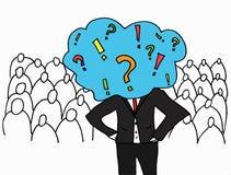 Idea. The businessman has an idea vector illustration