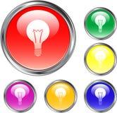 Idea Button. This is an idea button for the web Royalty Free Stock Photos