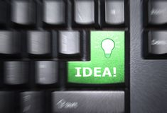 Idea button Royalty Free Stock Image