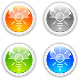 Idea buttons. Stock Photography