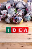 Idea buzzword colorful cubes series.jpg Royalty Free Stock Images