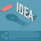 Idea card business vector background concept. Stock Photography