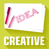 Idea card business vector background concept. Royalty Free Stock Photos