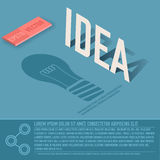 Idea card business vector background concept. Stock Photos