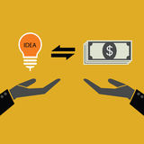 Idea change for money concept Stock Images