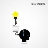 Idea charging idea concept.I need Idea concept. Businessman head Royalty Free Stock Photos