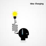 Idea charging idea concept.I need Idea concept. Businessman head Royalty Free Stock Photos