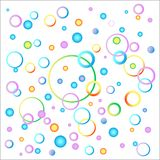 The idea of a child`s background image in a variety of colors. Balloons and spirals of festive colors. vector image vector illustration