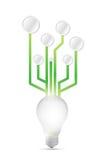 Idea circuit concept illustration design. Over a white background Stock Image