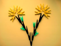 The idea for the clothespins. Creative mind Stock Photos