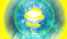 Idea Cloud. Big Idea Cloud Solution Illustration royalty free illustration