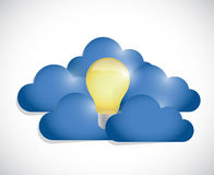 Idea clouds illustration design Stock Photos