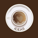 Idea cofee Royalty Free Stock Photography