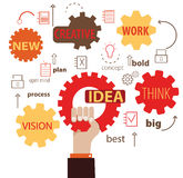 Idea Cogwheel Stock Photography