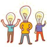 Idea concept. Cartoon vector illustration Stock Photos