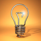 Idea concept. Abstract light bulb silhouette. Royalty Free Stock Photography