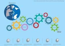 Vector idea concept backlash driven world. The success of the flat design. Idea concept backlash driven world. The success of the flat design Stock Photos