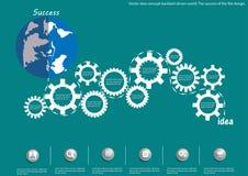 Vector idea concept backlash driven world. The success of the flat design. Idea concept backlash driven world. The success of the flat design Stock Photography
