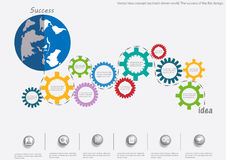Vector idea concept backlash driven world. The success of the flat design. Idea concept backlash driven world. The success of the flat design Stock Images