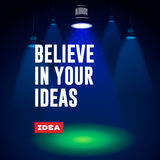 Idea concept. Believe in your ideas. Stock Image