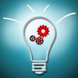 Idea concept on a blue background royalty free stock photography