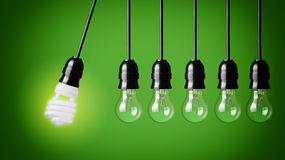 Idea concept with bulbs Royalty Free Stock Photo