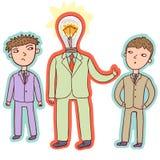 Idea concept - business leader. In vector Stock Photos