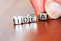 Idea concept business marketing letters placed on a desk in prec Stock Photos