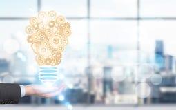 Idea concept businessman with lightbulb Stock Images