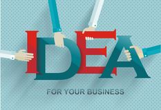 Idea concept with human hands Stock Photo