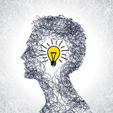 Idea concept with human head Royalty Free Stock Photography