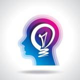 Idea concept in human head Royalty Free Stock Photos