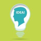 Idea concept with human head Royalty Free Stock Photos