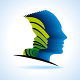 Idea concept with human head Royalty Free Stock Photo
