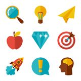 Idea concept icons in flat design style Royalty Free Stock Photo