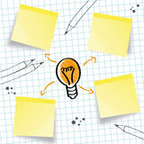 Idea, concept, idea sketch Royalty Free Stock Images