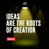 Idea concept. Ideas are the roots of creation. Royalty Free Stock Photography
