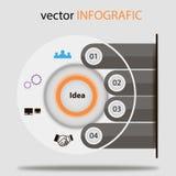 Idea concept info. Design concept grafic,infographics design elements Royalty Free Stock Photography