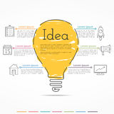Idea Concept Infographics Royalty Free Stock Photos